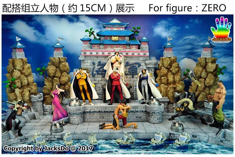 Décor Marineford Accessoire Jacksdo Résine Figurine One Piece
